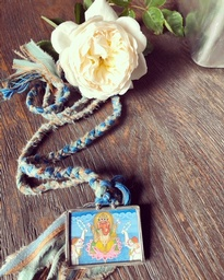 Ganesh Necklace Blue1