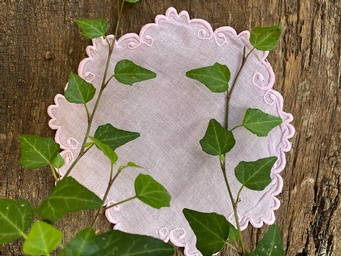 Baby pink doily