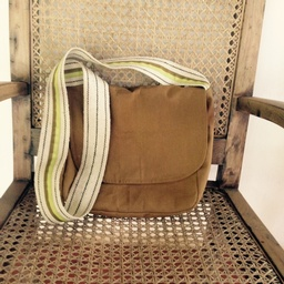 Besace bag - camel cotton
